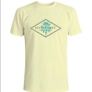 📦Modern palm tree T-shirt SZlarge mellow yellow